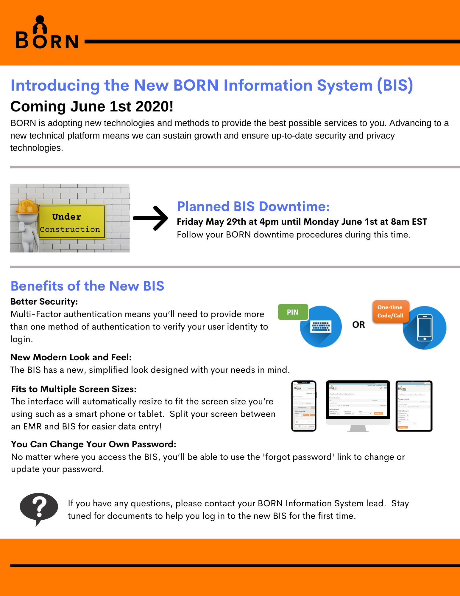 New BORN Information System coming June 1 2020